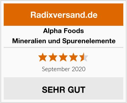 Alpha Foods Mineralien und Spurenelemente Test