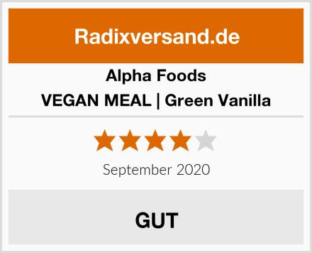 Alpha Foods VEGAN MEAL | Green Vanilla Test