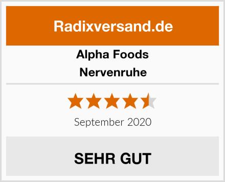 Alpha Foods Nervenruhe Test