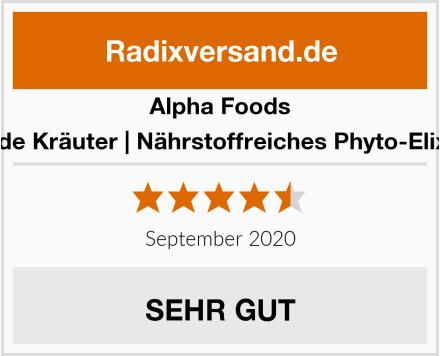 Alpha Foods Wilde Kräuter | Nährstoffreiches Phyto-Elixier Test
