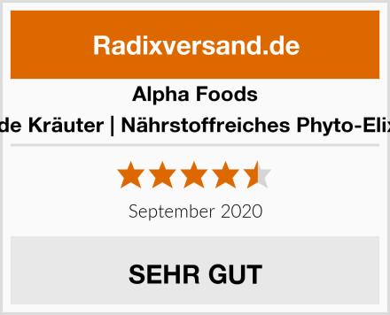 Alpha Foods Wilde Kräuter   Nährstoffreiches Phyto-Elixier Test