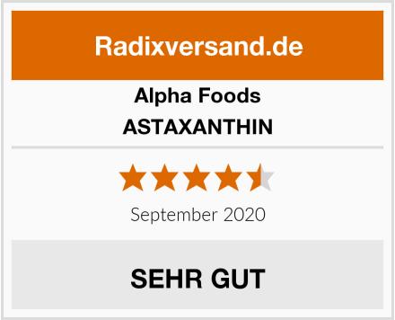 Alpha Foods ASTAXANTHIN Test