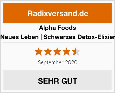 Alpha Foods Neues Leben | Schwarzes Detox-Elixier Test