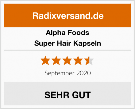 Alpha Foods Super Hair Kapseln Test