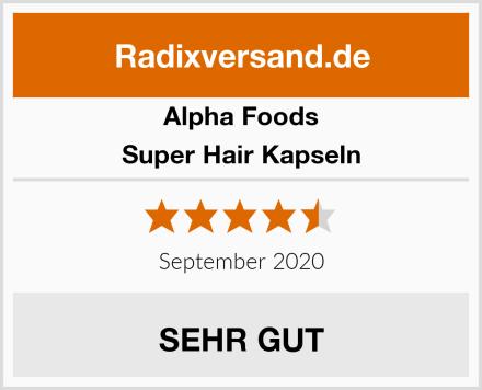 Alpha Foods Super Hair Kapseln Test