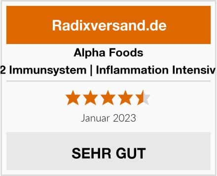 Alpha Foods TH2 Immunsystem | Inflammation Intensivkur Test