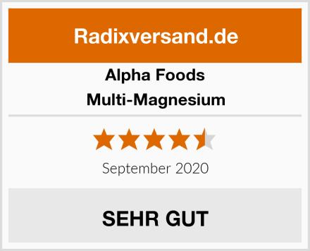 Alpha Foods Multi-Magnesium Test
