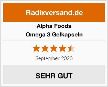 Alpha Foods Omega 3 Gelkapseln Test