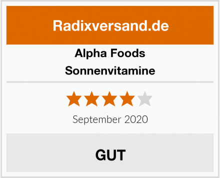 Alpha Foods Sonnenvitamine Test
