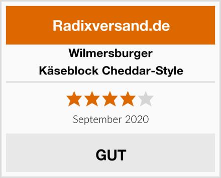 Wilmersburger Käseblock Cheddar-Style Test