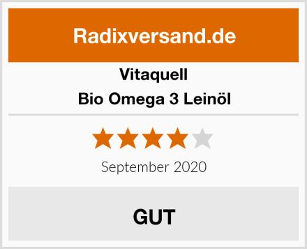 Vitaquell Bio Omega 3 Leinöl Test