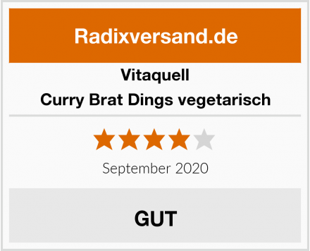 Vitaquell Curry Brat Dings vegetarisch Test