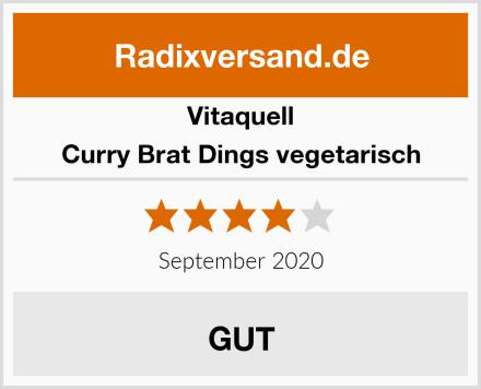 Vitaquell Curry Brat Dings vegetarisch Test