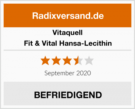 Vitaquell Fit & Vital Hansa-Lecithin Test