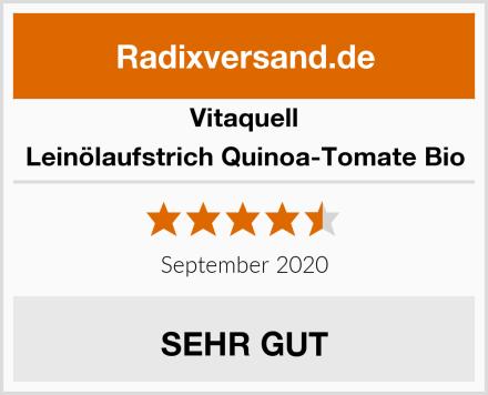 Vitaquell Leinölaufstrich Quinoa-Tomate Bio Test
