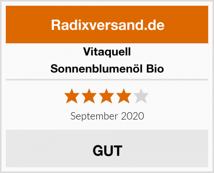 Vitaquell Sonnenblumenöl Bio Test