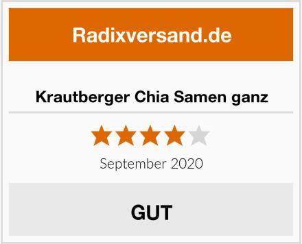 Krautberger Chia Samen ganz Test
