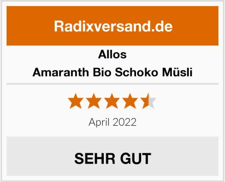 Allos Amaranth Bio Schoko Müsli Test