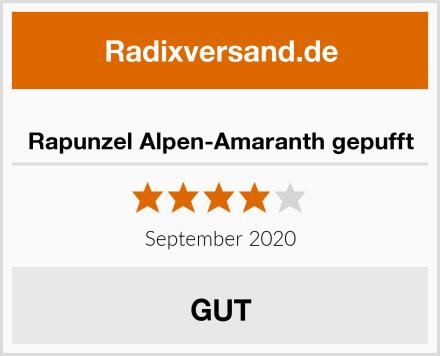 Rapunzel Alpen-Amaranth gepufft Test