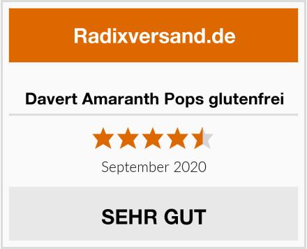 Davert Amaranth Pops glutenfrei Test