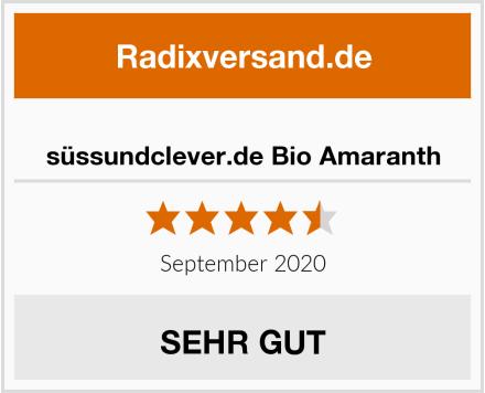 süssundclever.de Bio Amaranth Test