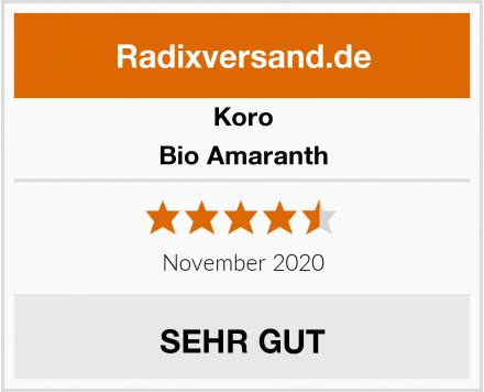 Koro Bio Amaranth Test
