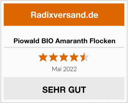 Piowald BIO Amaranth Flocken Test