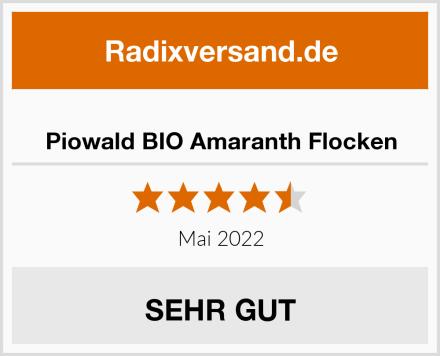 Piowald BIO Amaranth Flocken Test
