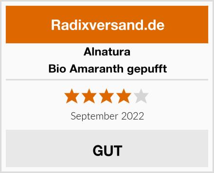 Alnatura Bio Amaranth gepufft Test
