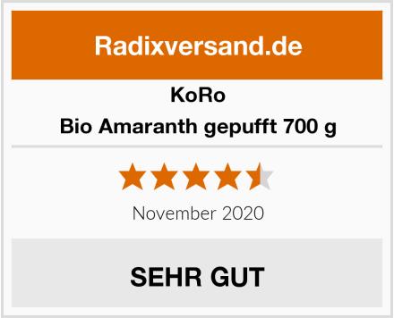 KoRo Bio Amaranth gepufft 700 g Test
