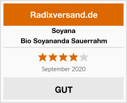 Soyana Bio Soyananda Sauerrahm Test