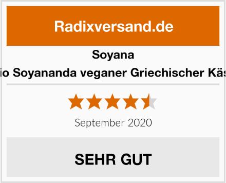 Soyana Bio Soyananda veganer Griechischer Käse Test