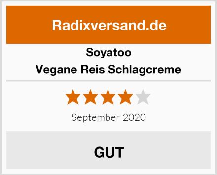 Soyatoo Vegane Reis Schlagcreme Test