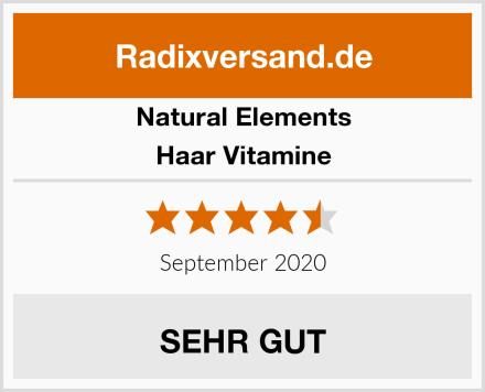 natural elements Haar Vitamine Test