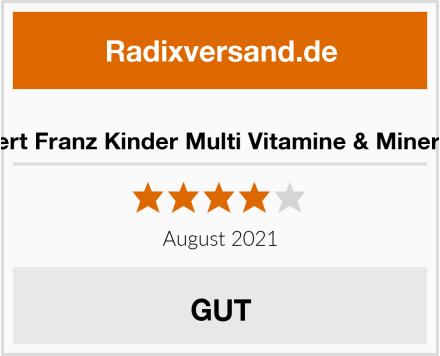 Robert Franz Kinder Multi Vitamine & Mineralien Test