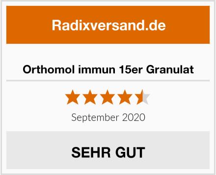 Orthomol immun 15er Granulat Test