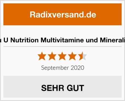 Nu U Nutrition Multivitamine und Mineralien Test