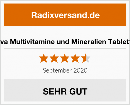 Deva Multivitamine und Mineralien Tabletten Test