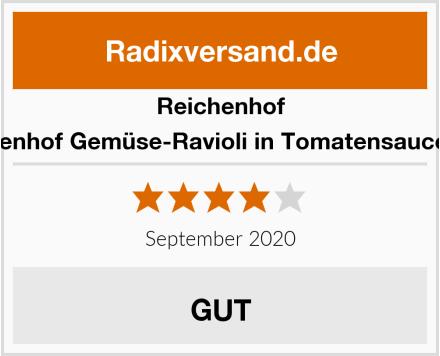 Reichenhof Reichenhof Gemüse-Ravioli in Tomatensauce vega Test
