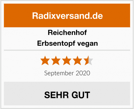 Reichenhof Erbsentopf vegan Test