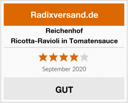 Reichenhof Ricotta-Ravioli in Tomatensauce Test
