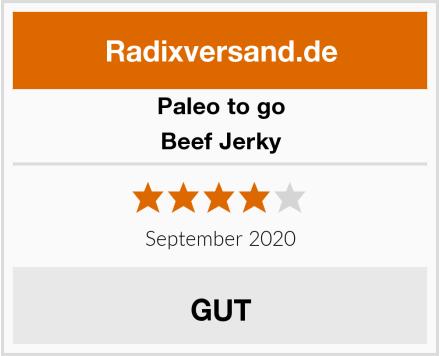 Paleo to go Beef Jerky Test