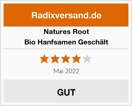 Natures Root Bio Hanfsamen Geschält Test