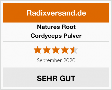 Natures Root Cordyceps Pulver Test
