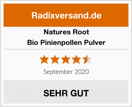 Natures Root Bio Pinienpollen Pulver Test
