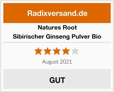 Natures Root Sibirischer Ginseng Pulver Bio Test