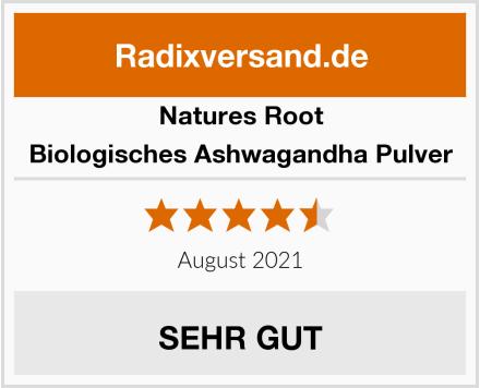 Natures Root Biologisches Ashwagandha Pulver Test