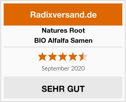Natures Root BIO Alfalfa Samen Test