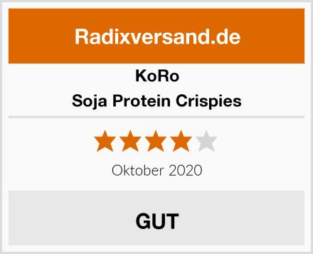 Koro Soja Protein Crispies Test