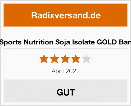 BBGenics Sports Nutrition Soja Isolate GOLD Banane Pulver Test